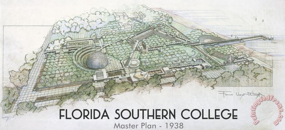 Frank Lloyd Wright Florida Southern College Master Plan