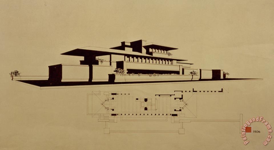 Frank Lloyd Wright Frederick Robie House Chicago Il