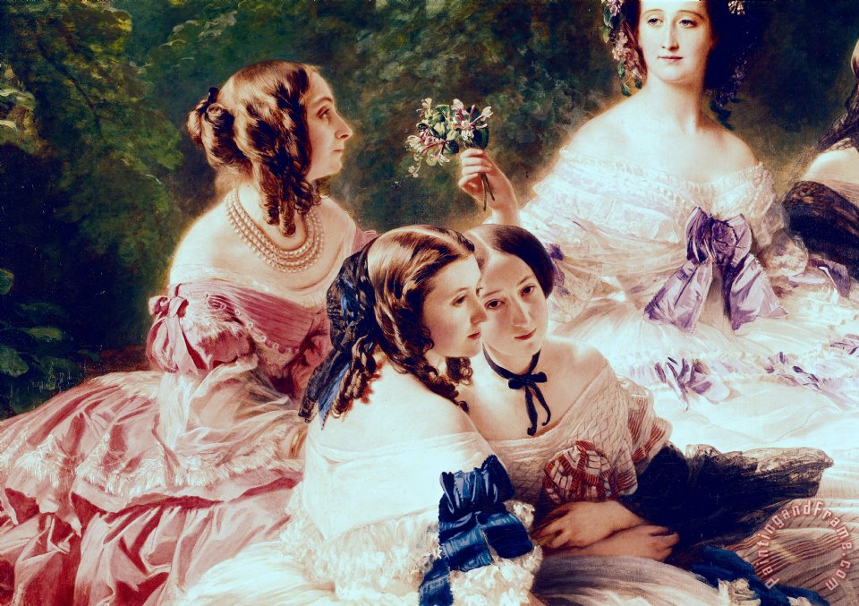 Franz Xaver Winterhalter Empress Eugenie and her Ladies in Waiting Art Print