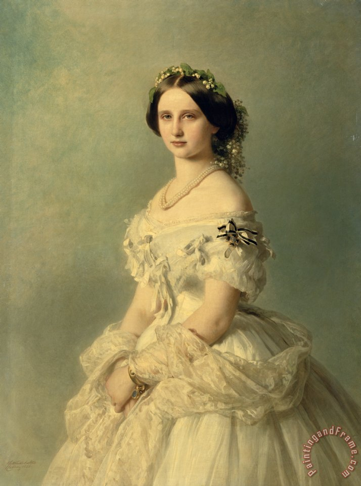 Franz Xaver Winterhalter Portrait of Princess of Baden Art Print