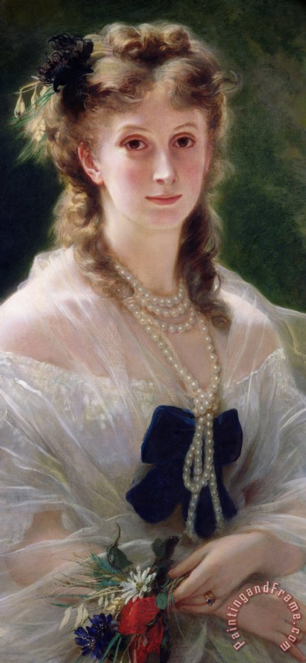 Portrait Of Sophie Troubetskoy painting - Franz Xaver Winterhalter Portrait Of Sophie Troubetskoy Art Print