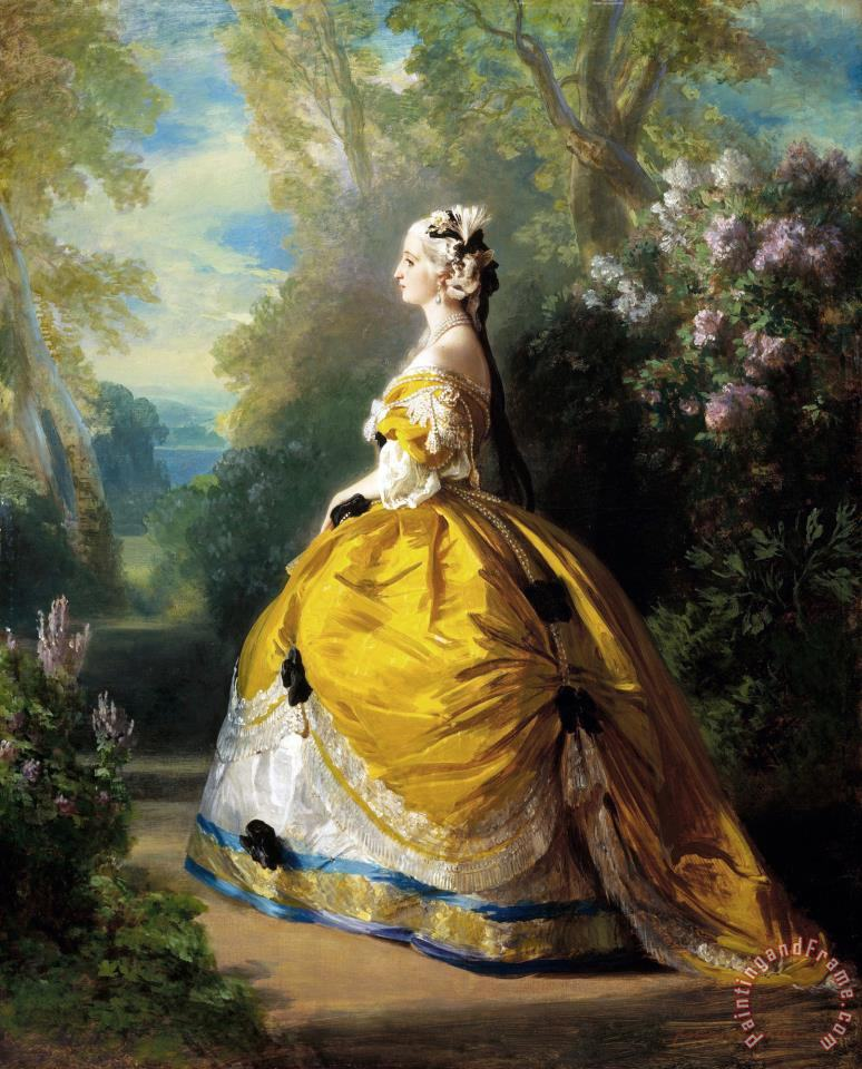 The Empress Eugenie (eugenie De Montijo) painting - Franz Xaver Winterhalter The Empress Eugenie (eugenie De Montijo) Art Print