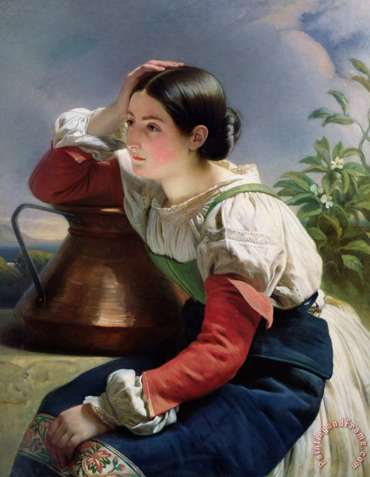 Young Italian at the Well painting - Franz Xaver Winterhalter Young Italian at the Well Art Print