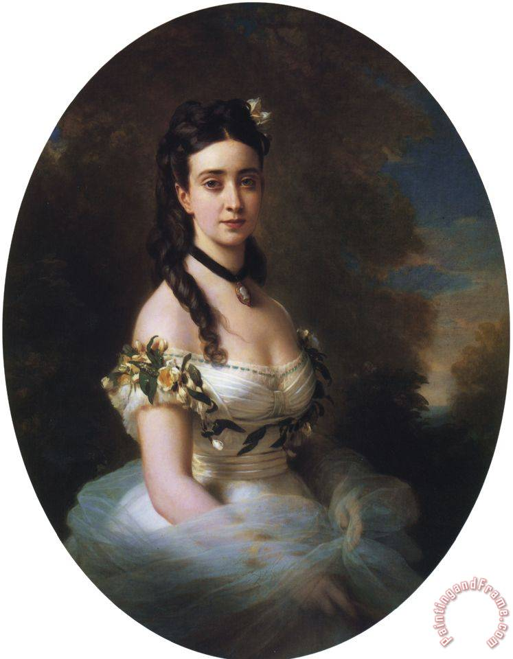 Portrait of an American Lady painting - Franz Xavier Winterhalter Portrait of an American Lady Art Print
