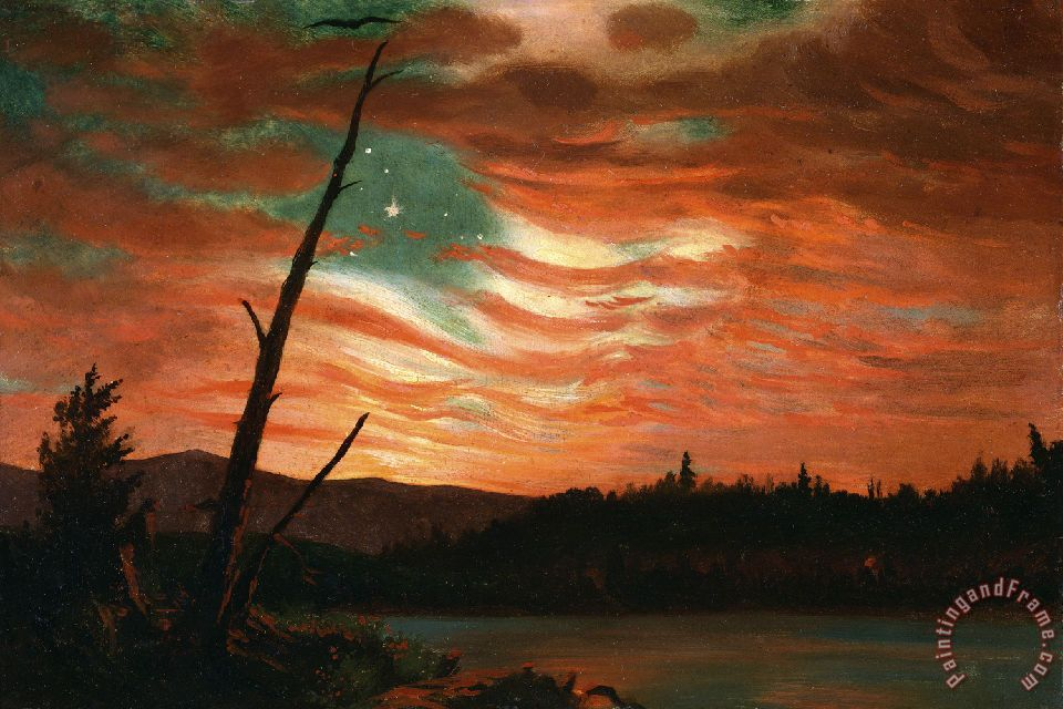 Our Banner in the Sky painting - Frederic Edwin Church Our Banner in the Sky Art Print