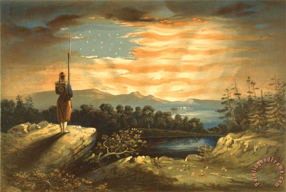 Frederic edwin church our heaven born banner painting for Frederick church paintings