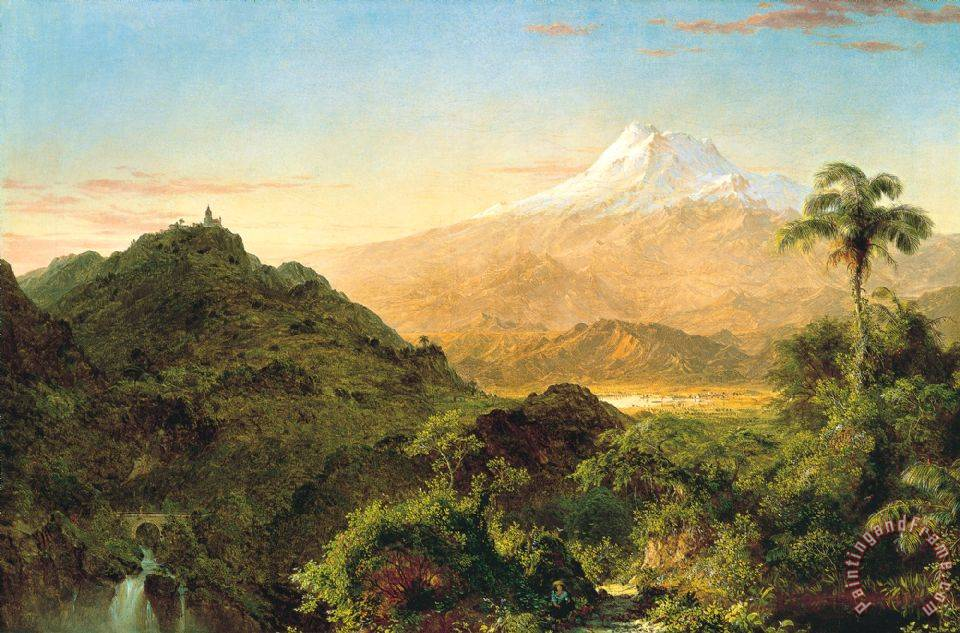 South American Landscape painting - Frederic Edwin Church South American Landscape Art Print