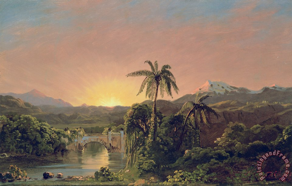 Sunset in Equador painting - Frederic Edwin Church Sunset in Equador Art Print