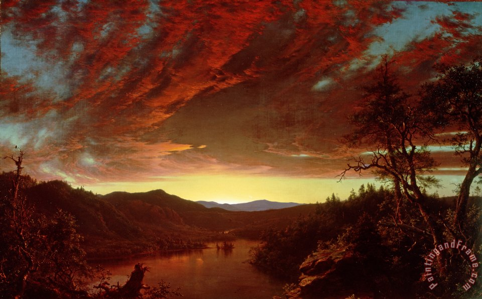 Twilight in the Wilderness painting - Frederic Edwin Church Twilight in the Wilderness Art Print
