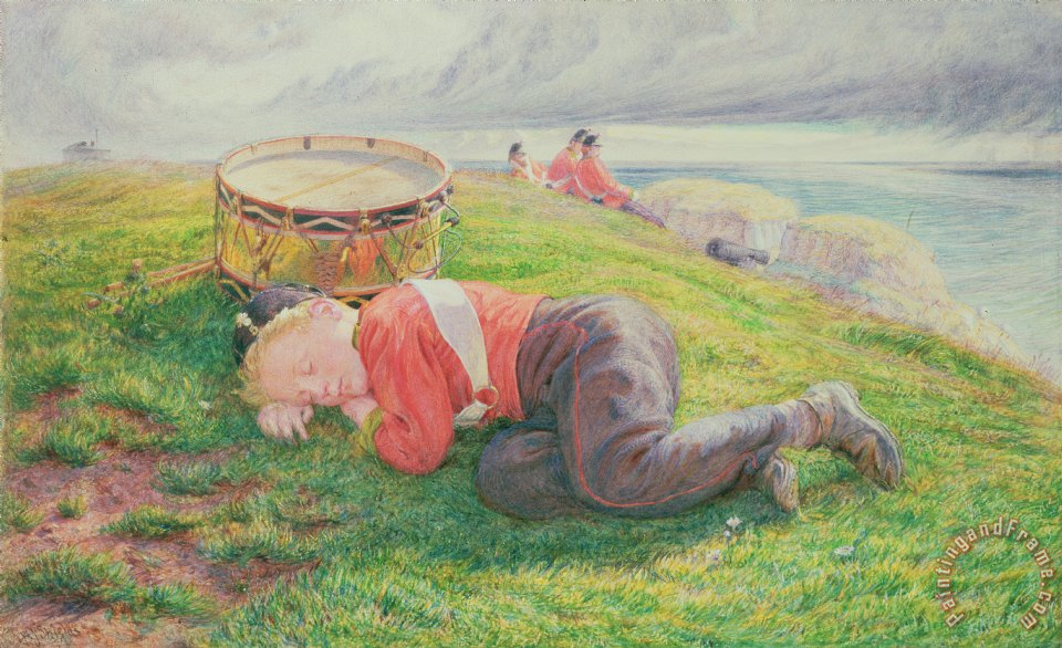 Frederic James Shields The Drummer Boy's Dream Art Print