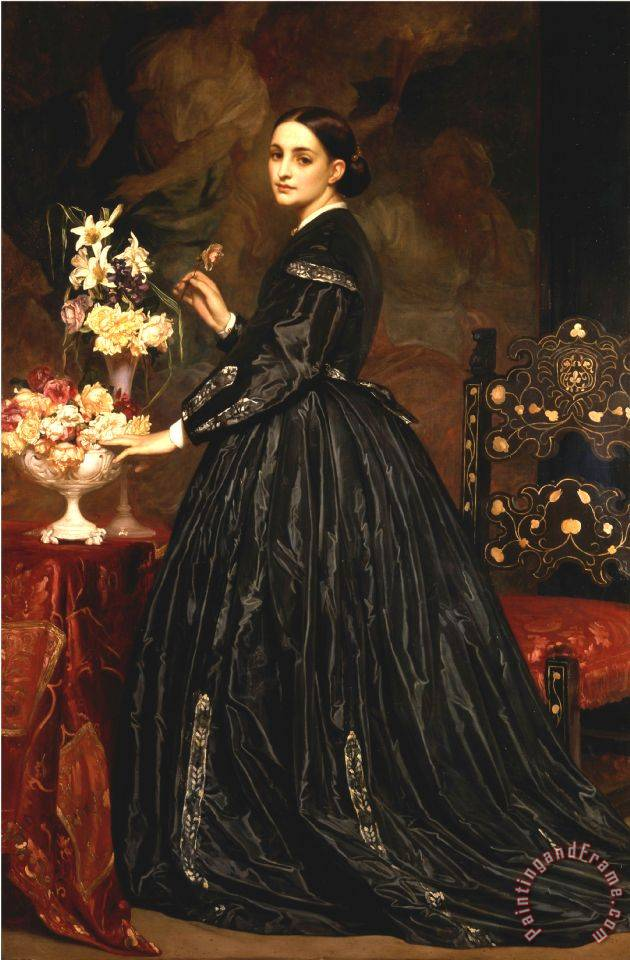 Mrs. James Guthrie painting - Frederic Leighton Mrs. James Guthrie Art Print