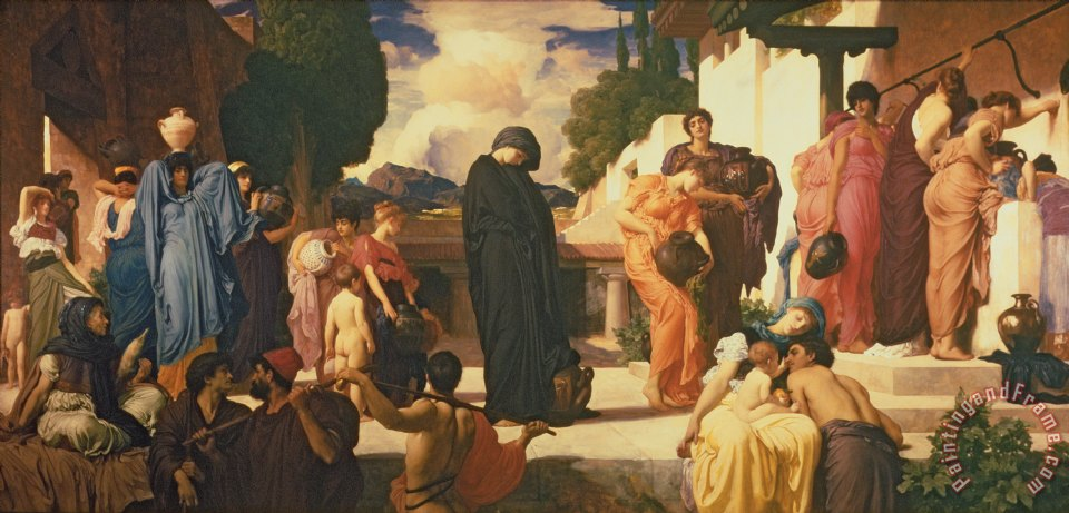 Captive Andromache painting - Frederic Leighton Captive Andromache Art Print