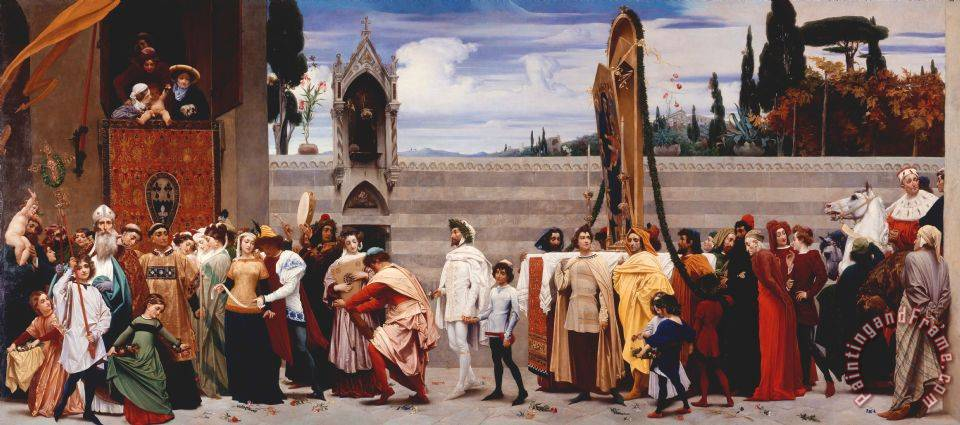 Cimabue's Madonna Carried in Procession 2 painting - Frederic Leighton Cimabue's Madonna Carried in Procession 2 Art Print