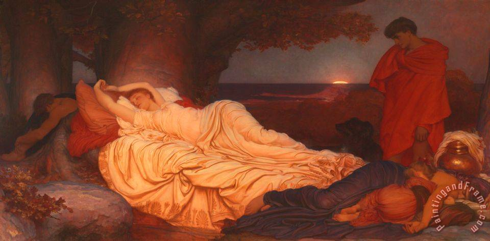 Cymon And Iphigenia painting - Frederic Leighton Cymon And Iphigenia Art Print