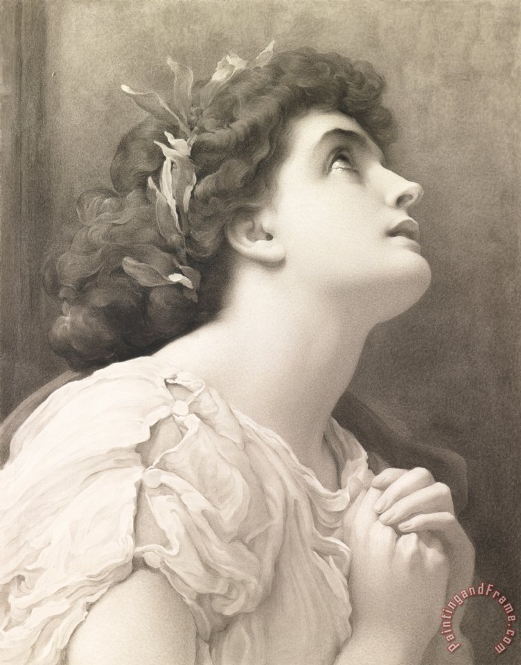 Frederic Leighton Faith Art Print
