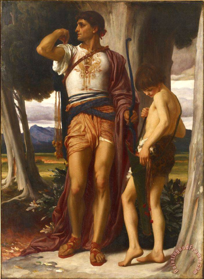 Jonathan's Token to David painting - Frederic Leighton Jonathan's Token to David Art Print