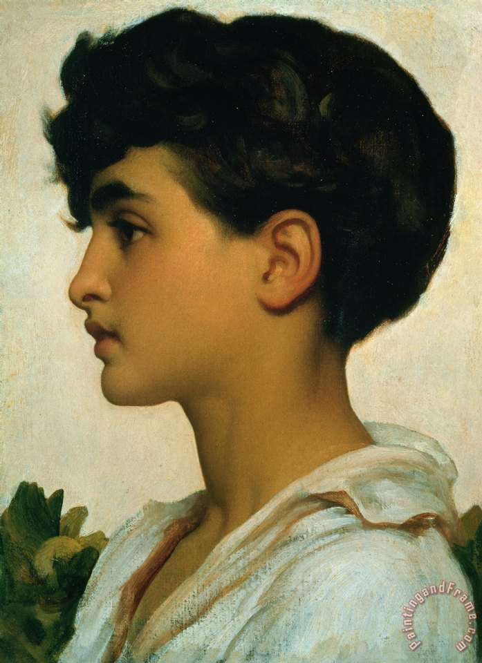 Paolo painting - Frederic Leighton Paolo Art Print