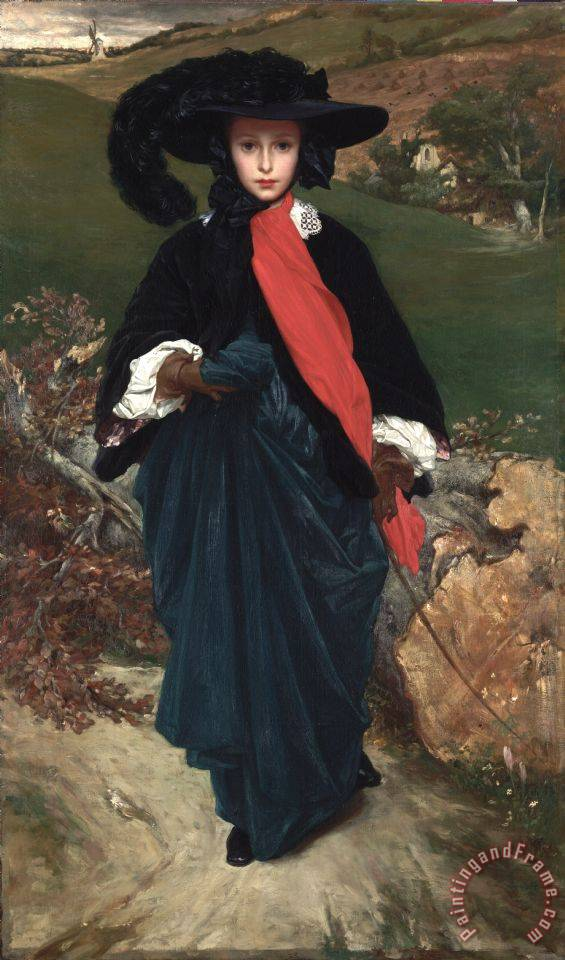 Frederic Leighton Portrait of May Sartoris Art Print