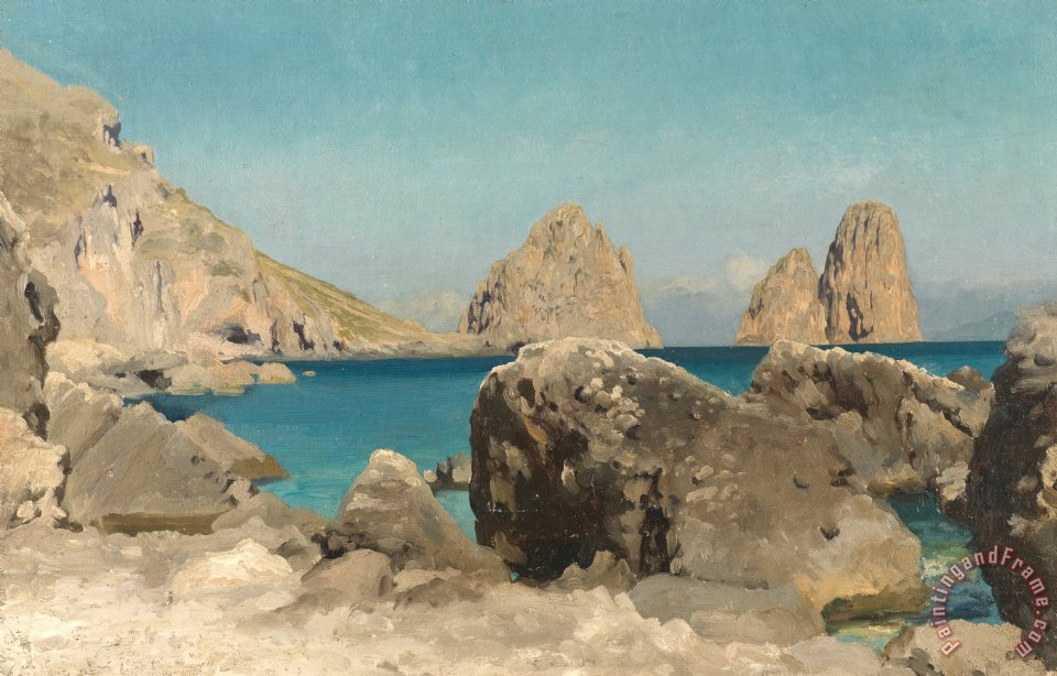 Rocks of the Sirens painting - Frederic Leighton Rocks of the Sirens Art Print