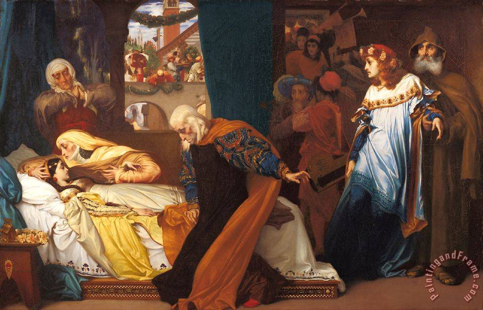 Frederic Leighton The Feigned Death of Juliet Art Print
