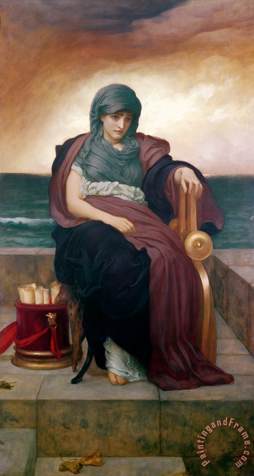 The Tragic Poetess painting - Frederic Leighton The Tragic Poetess Art Print