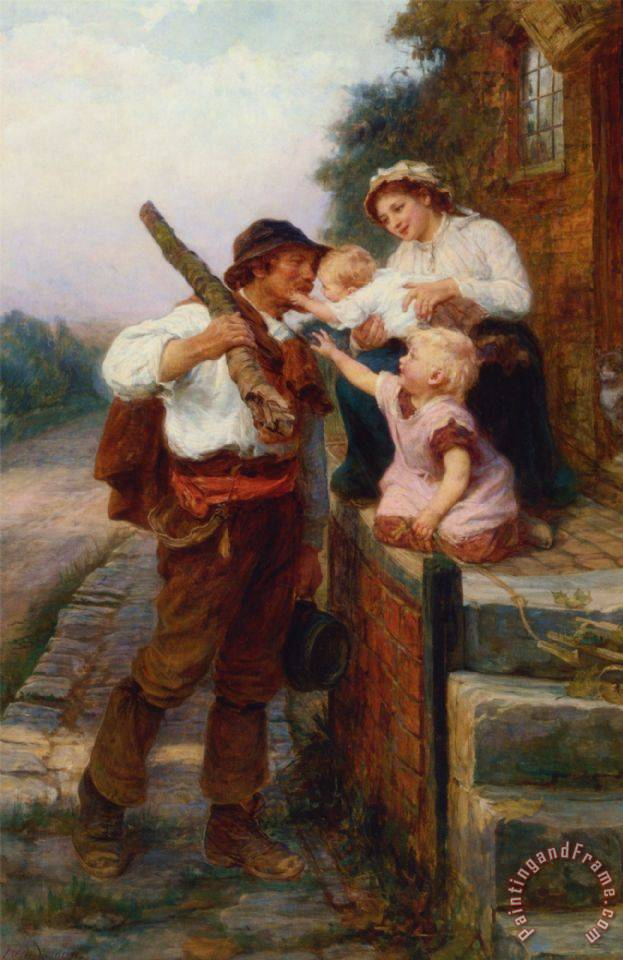 A Fathers Return painting - Frederick Morgan A Fathers Return Art Print
