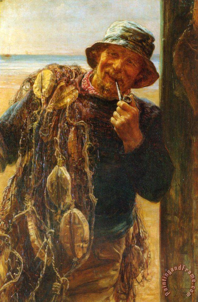A Jovial Fisherman painting - Frederick Morgan A Jovial Fisherman Art Print