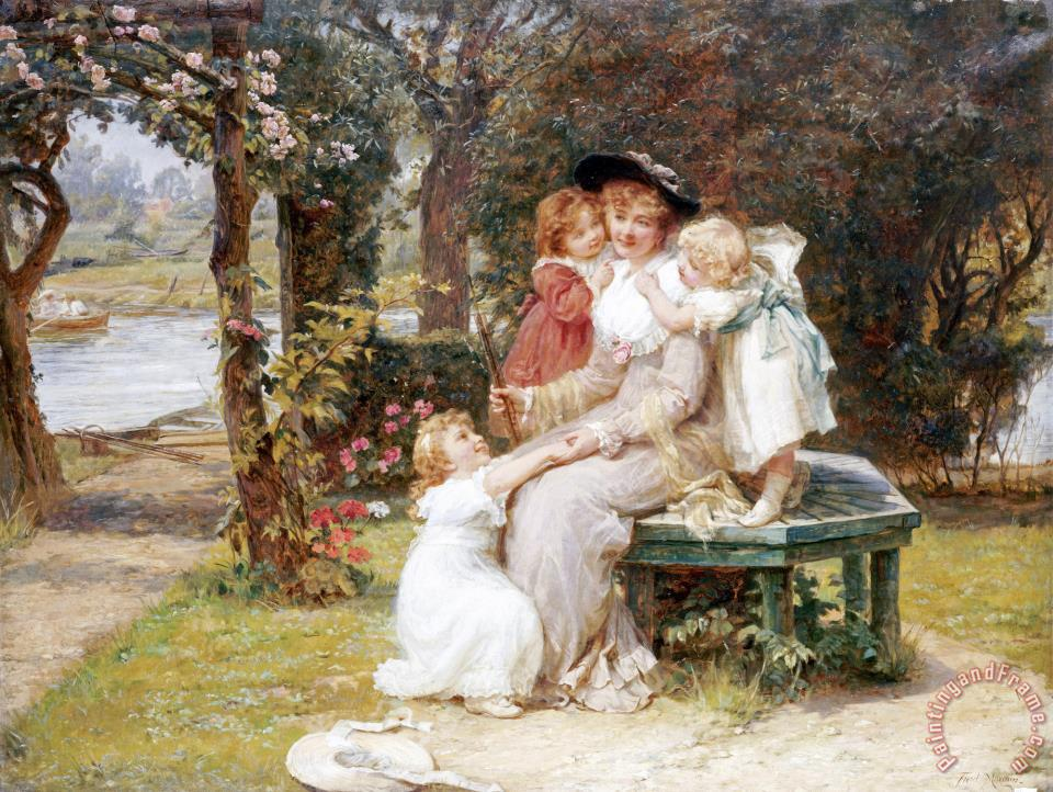 Me Too? painting - Frederick Morgan Me Too? Art Print