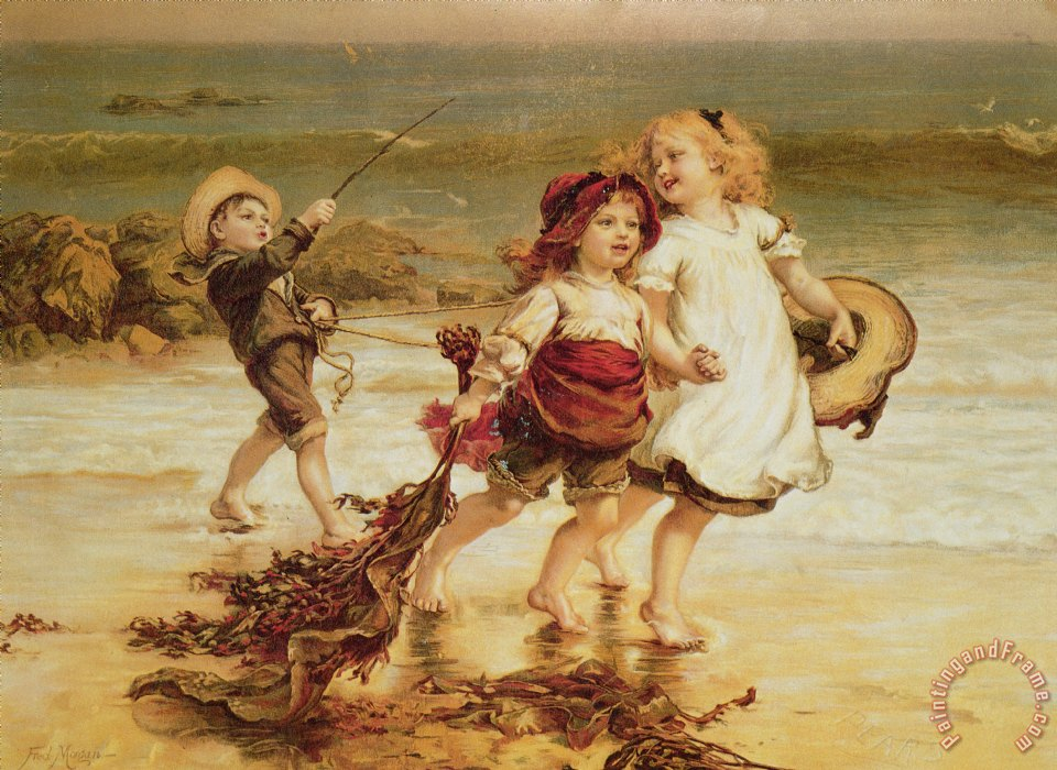 Sea Horses painting - Frederick Morgan Sea Horses Art Print