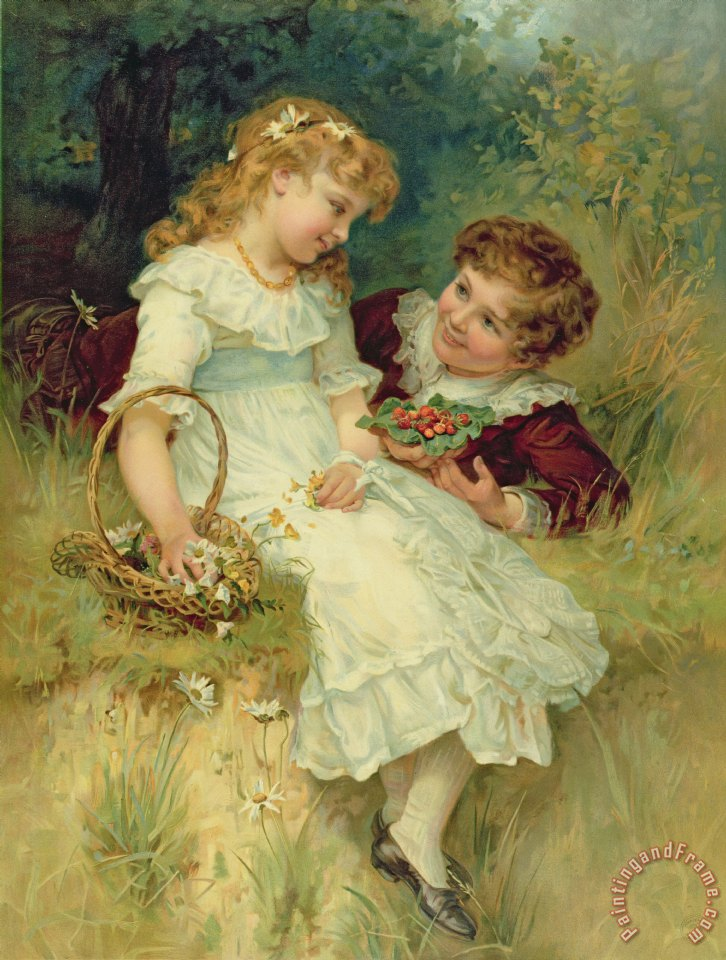 Frederick Morgan Sweethearts Art Print