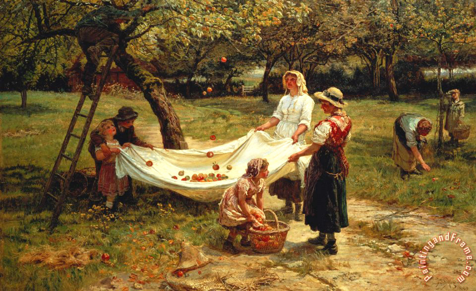 The Apple Gatherers painting - Frederick Morgan The Apple Gatherers Art Print