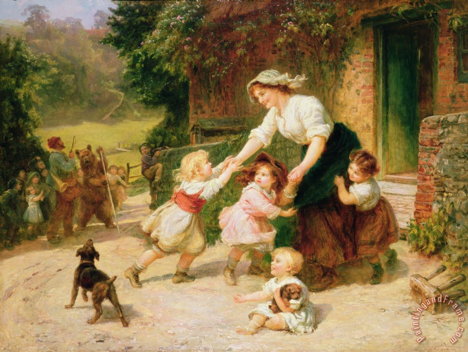 The Dancing Bear painting - Frederick Morgan The Dancing Bear Art Print