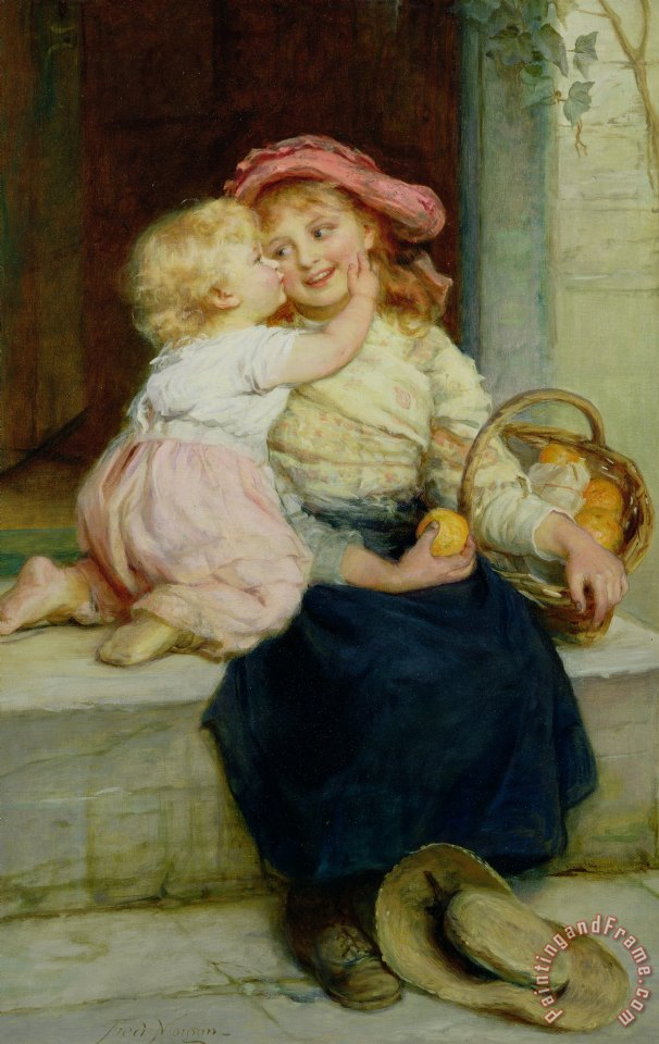 Frederick Morgan The Orange Seller Art Print
