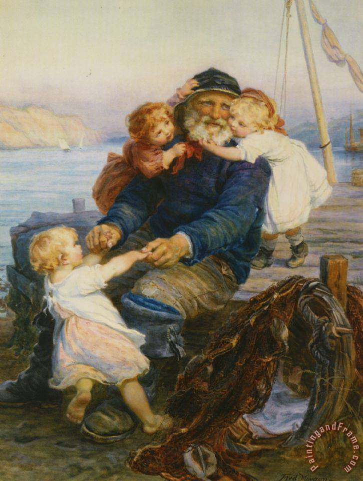 Which One Do You Love Best painting - Frederick Morgan Which One Do You Love Best Art Print