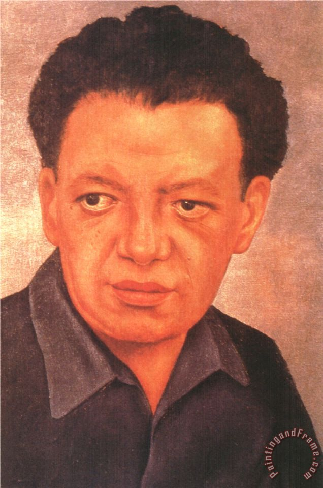 Frida Kahlo Portrait Of Diego Rivera 1937 Painting Portrait Of Diego