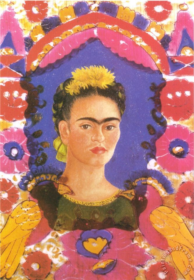 Frida Kahlo Self Portrait The Frame 1938 Painting Self Portrait The