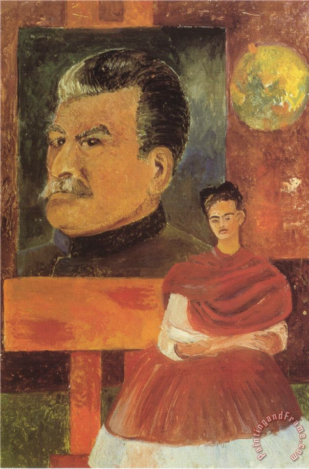Frida Kahlo Self Portrait With Stalin 1954 Painting Self Portrait With