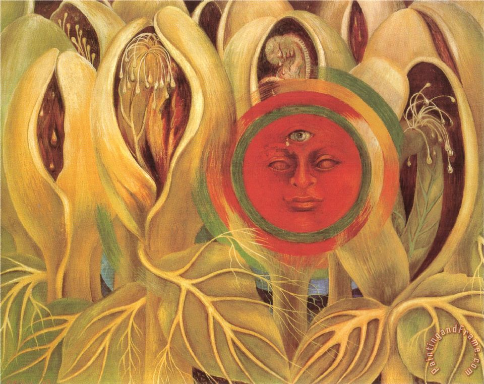 Sun And Life 1947 painting - Frida Kahlo Sun And Life 1947 Art Print