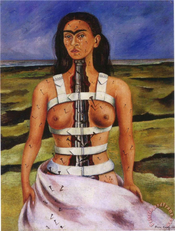 The Broken Column 1944 painting - Frida Kahlo The Broken Column 1944 Art Print