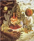 Which One Do You Love Best Prints - The Love Embrace of The Universe The Earth Mexico Myself Diego And senor Xolotl 1949 by Frida Kahlo