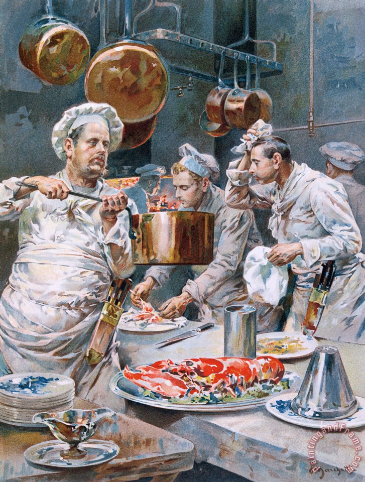 G marchetti in the kitchen painting in the kitchen print for Art and cuisine cookware reviews