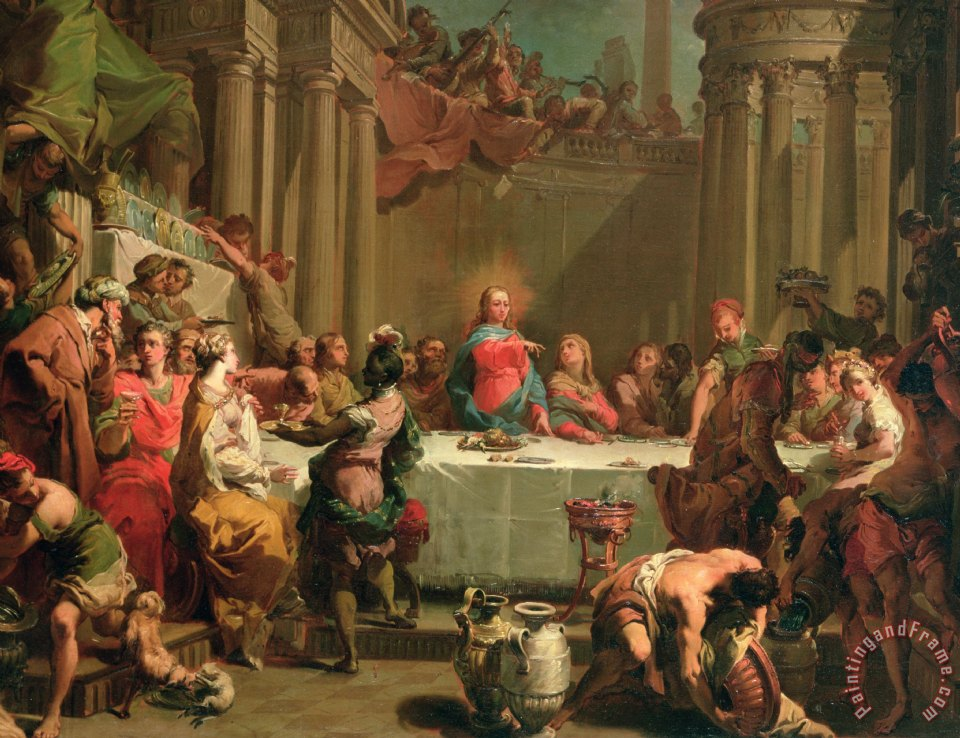 Wedding Feast At Cana.Marriage Feast At Cana