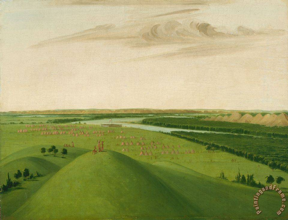 Fort Union, Mouth of The Yellowstone River, 2000 Miles Above St. Louis painting - George Catlin Fort Union, Mouth of The Yellowstone River, 2000 Miles Above St. Louis Art Print