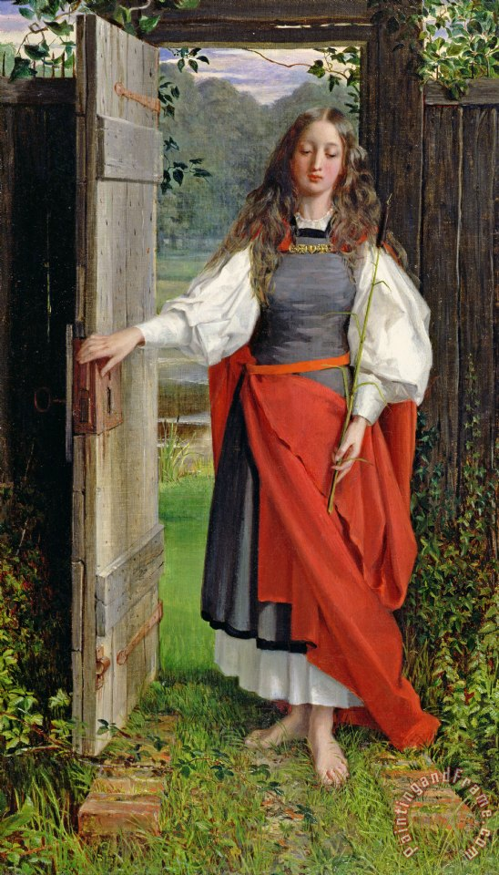 Faith painting - George Dunlop Leslie Faith Art Print