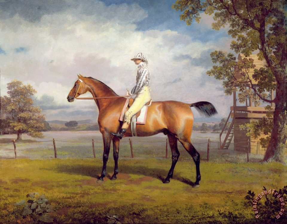 The Duke of Hamilton's Disguise with Jockey Up painting - George Garrard The Duke of Hamilton's Disguise with Jockey Up Art Print