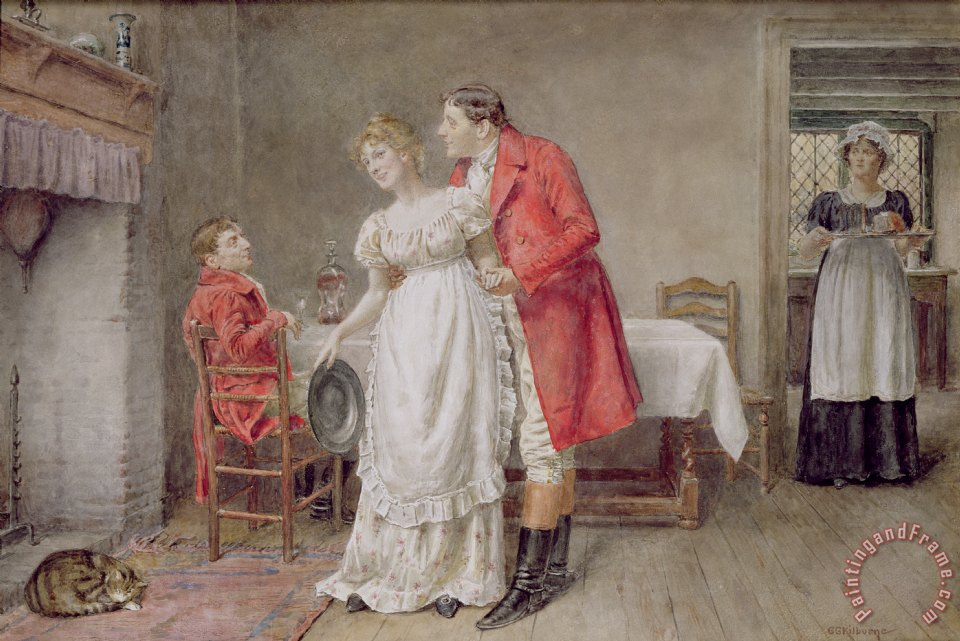 George Goodwin Kilburne The Return Of The Huntsman Art Print