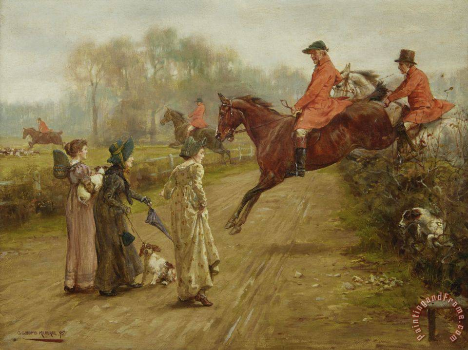 George Goodwin Kilburne Watching The Hunt Art Painting