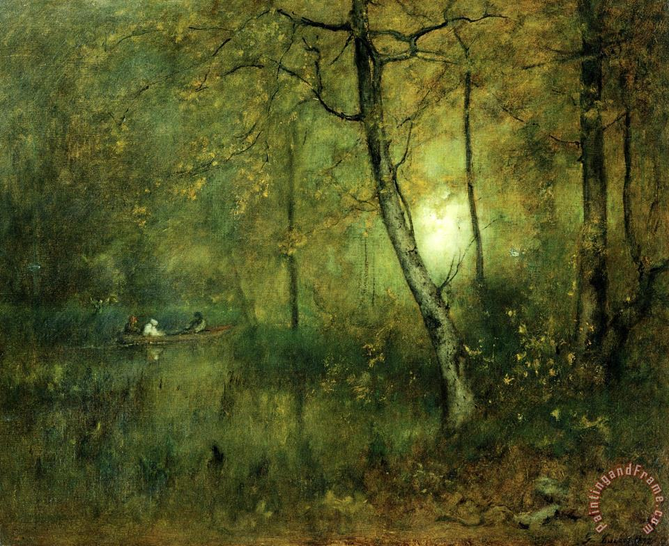 george inness pool in the woods painting   pool in the