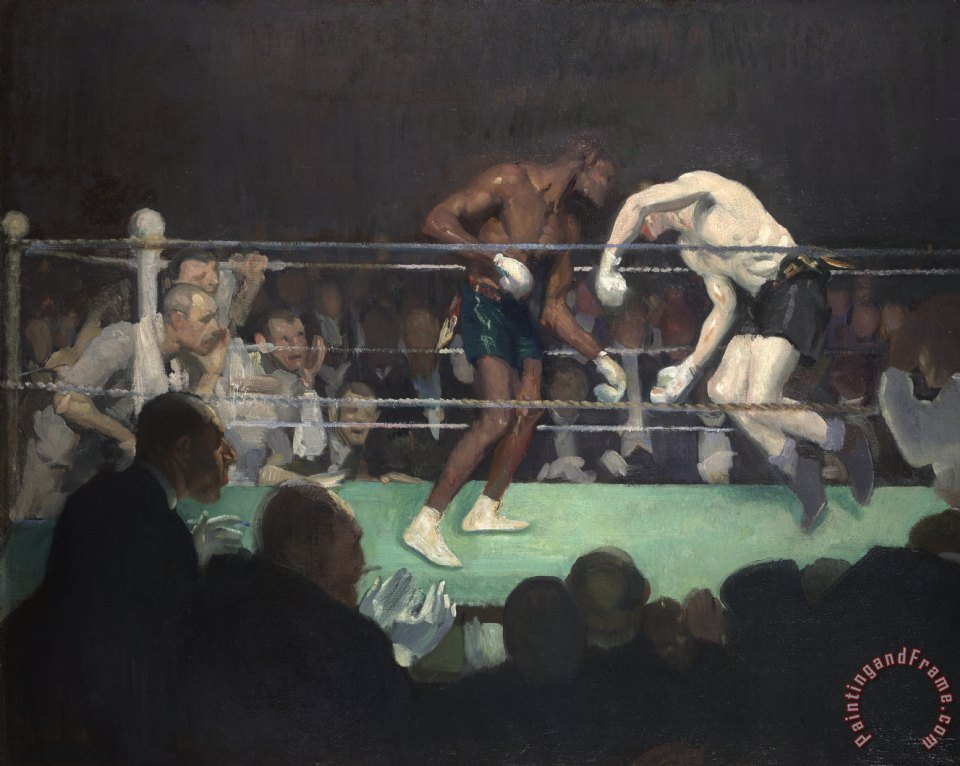 George Luks Boxing Match Art Print