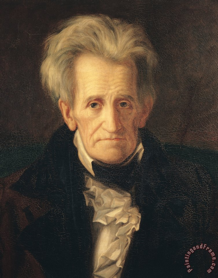 Portrait of andrew jackson painting - george peter alexander healy